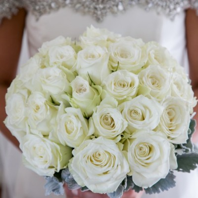 WHITE - IVORY - CREAM  bouquets / buttonholes/ corsages/ hair/ ceremony/ reception/ cakes